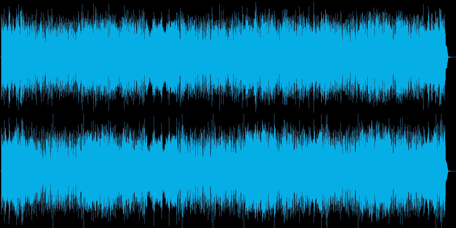 闘志みなぎる情熱のロックピアノサウンドの再生済みの波形