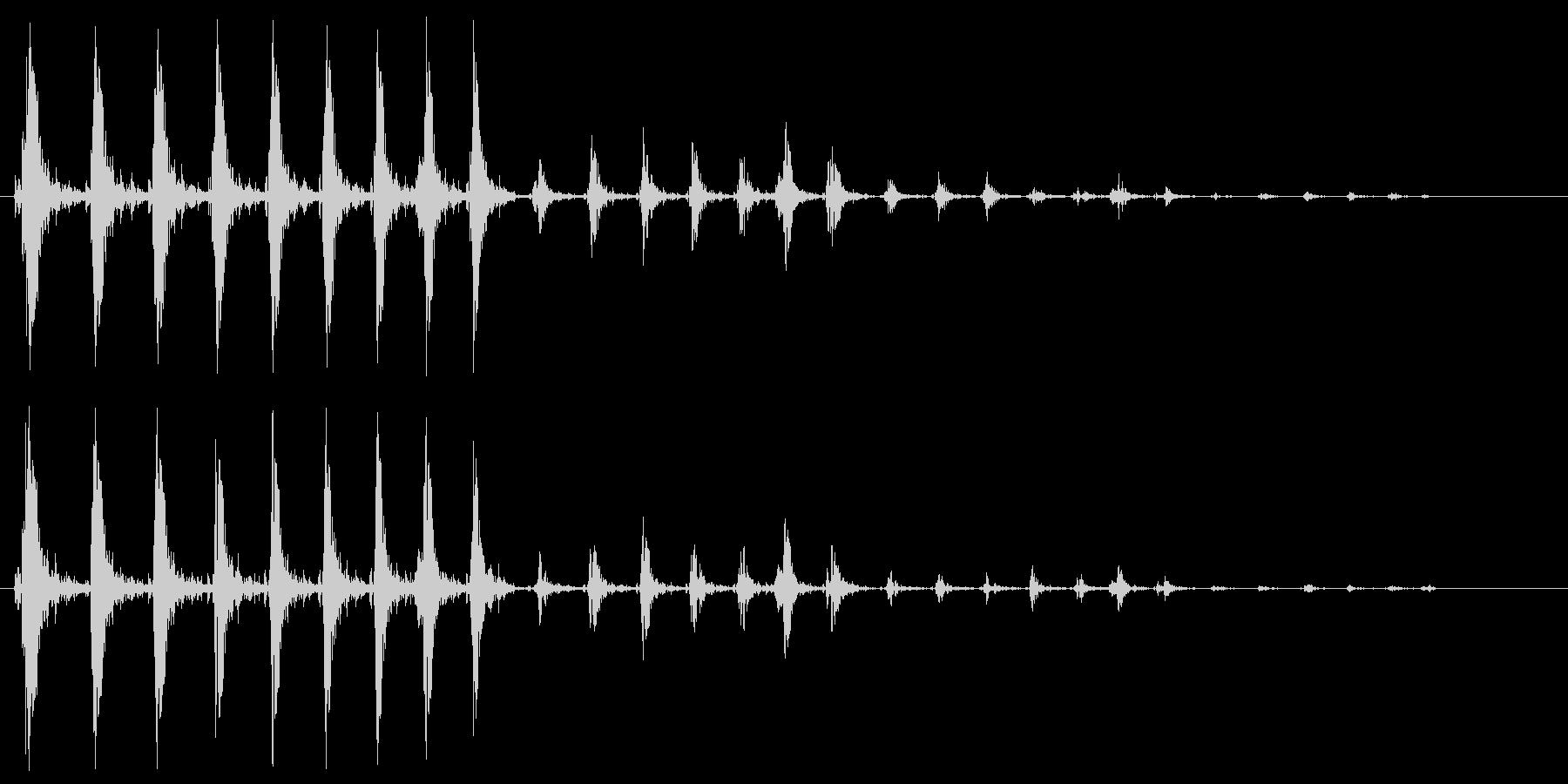 ワープ音、高めのシンセサイザーのループ音の未再生の波形