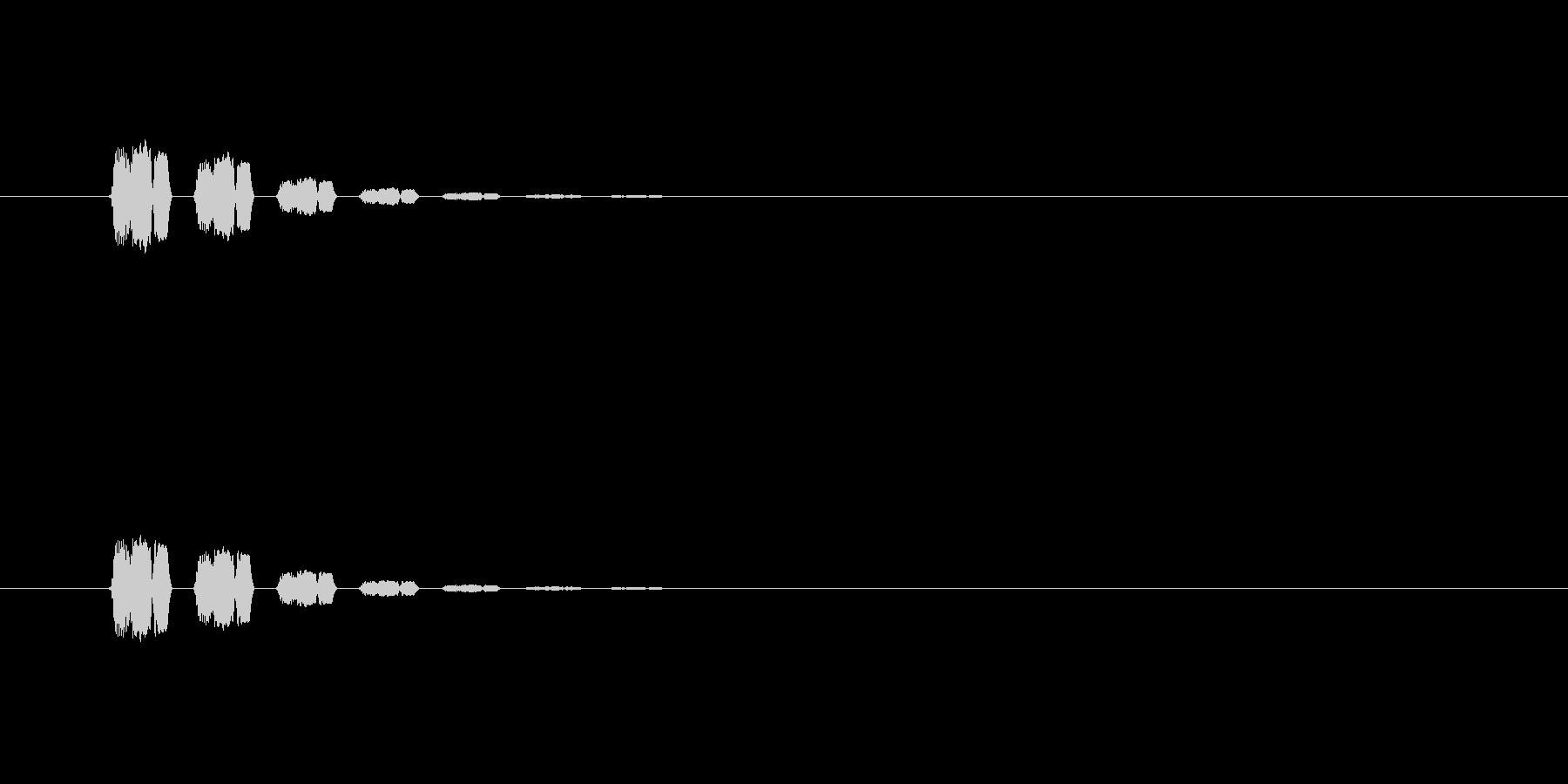 【アクセント32-2】の未再生の波形
