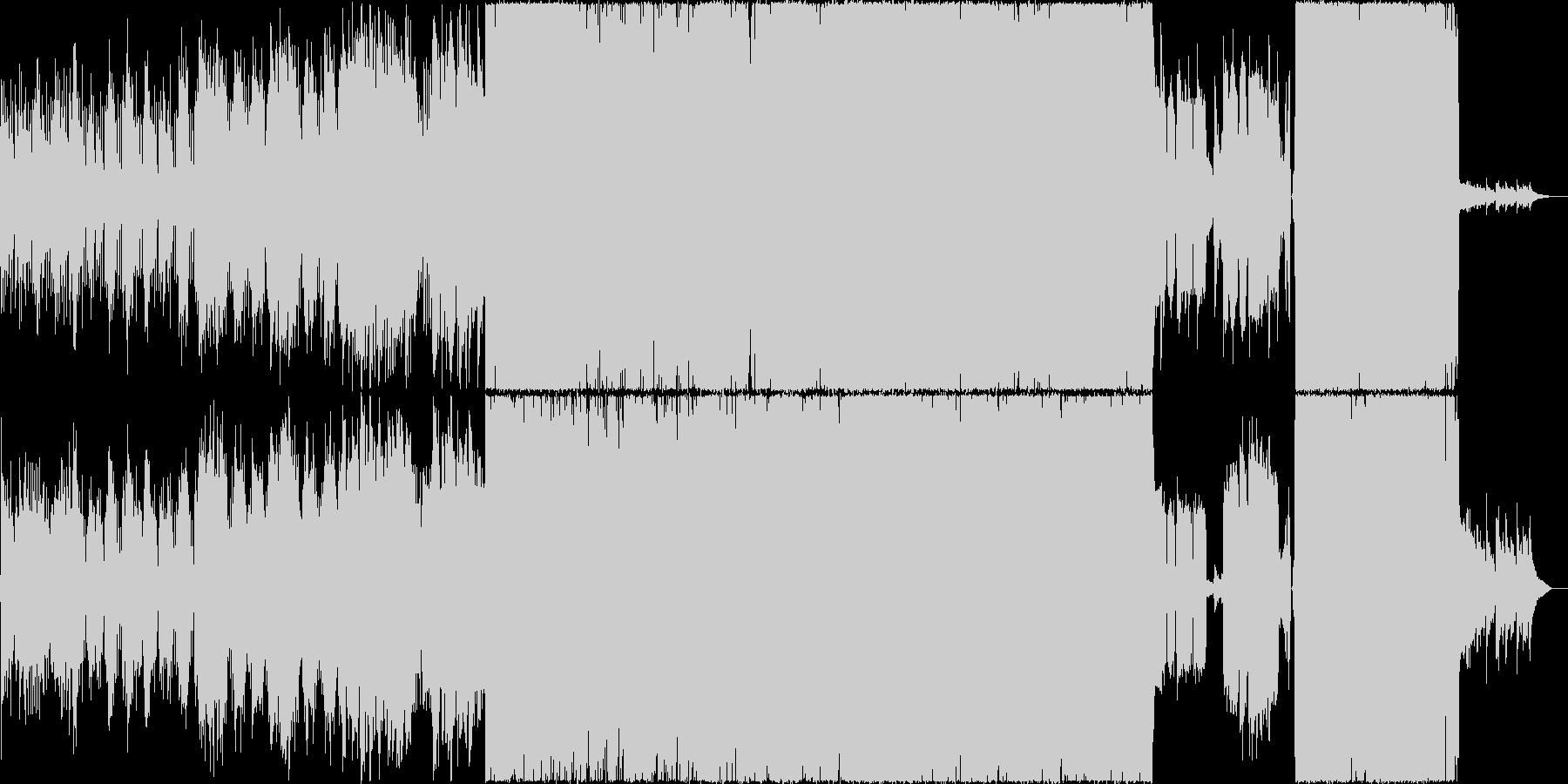 生演奏。後半から一気に盛り上がるロックの未再生の波形