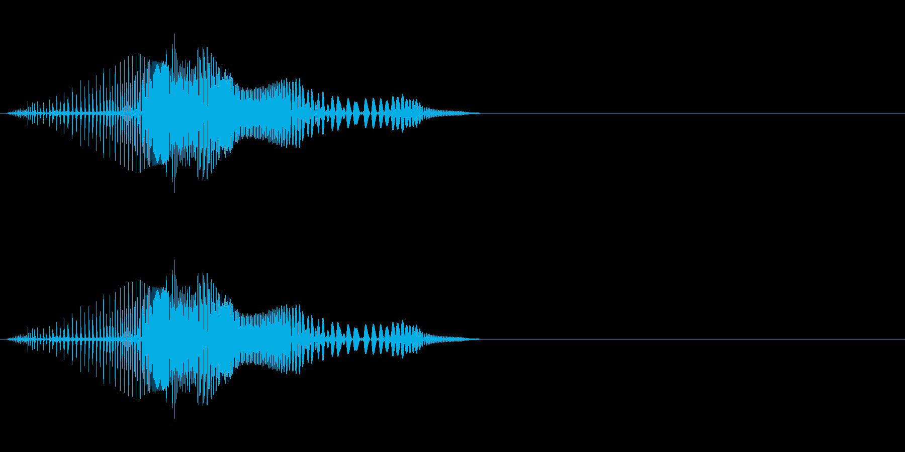 ボタン、スワイプ音(ブワンッ)の再生済みの波形
