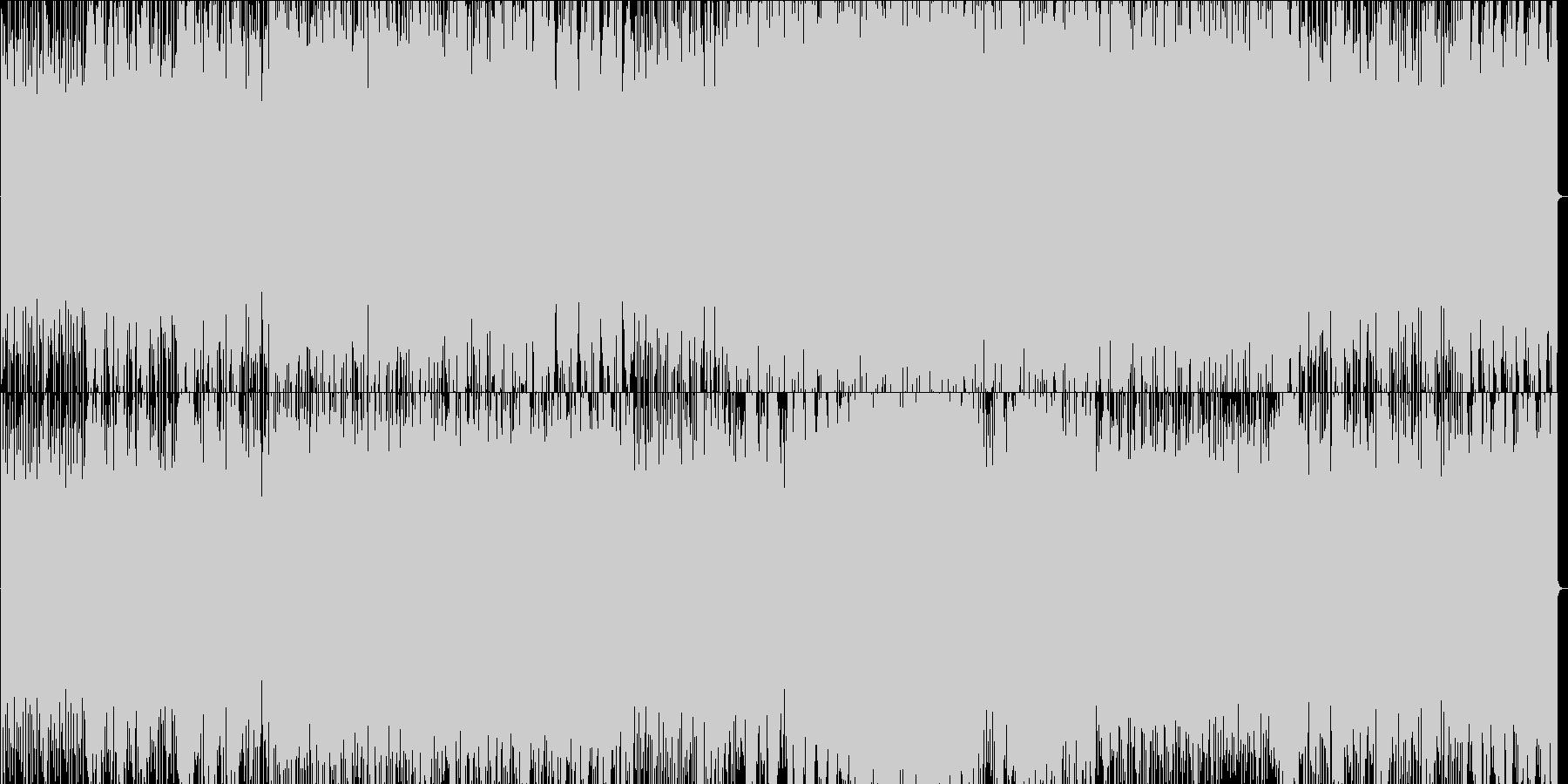 攻撃的なロックの未再生の波形