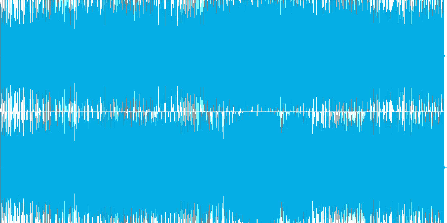 攻撃的なロックの再生済みの波形