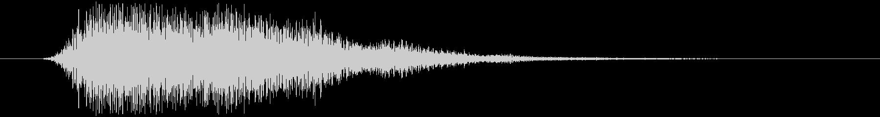 回復魔法の音の未再生の波形
