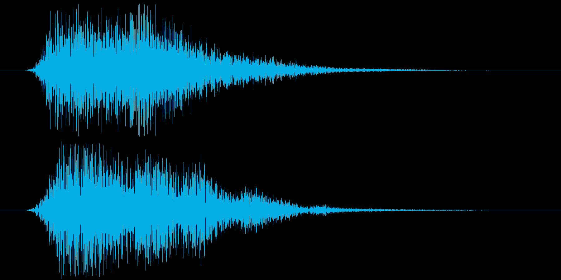 回復魔法の音の再生済みの波形