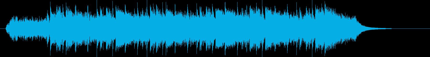 80年代洋楽ポップスのようなシンセ曲の再生済みの波形