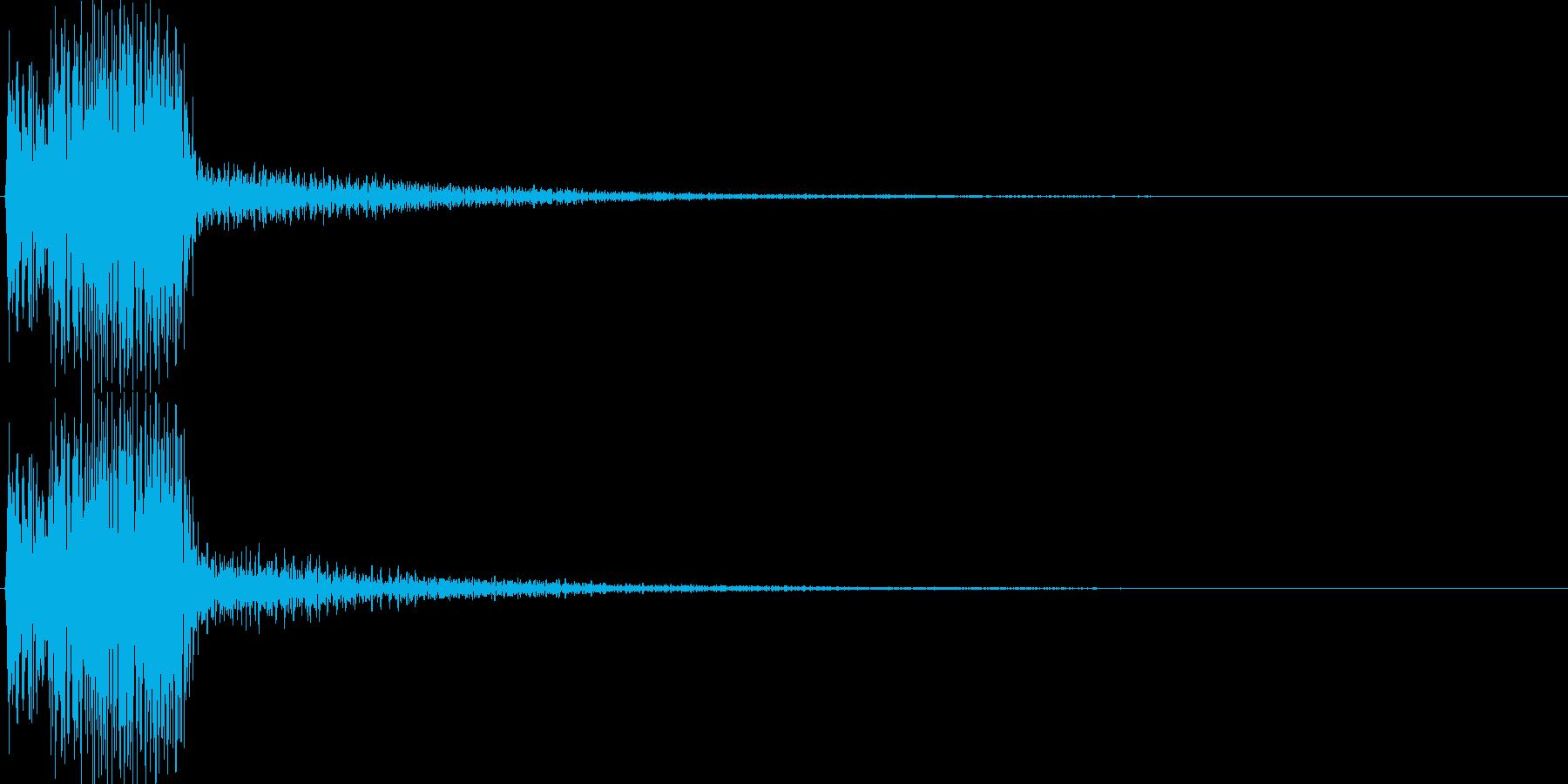 ピコ(ゲーム、アプリ等の操作決定音03)の再生済みの波形