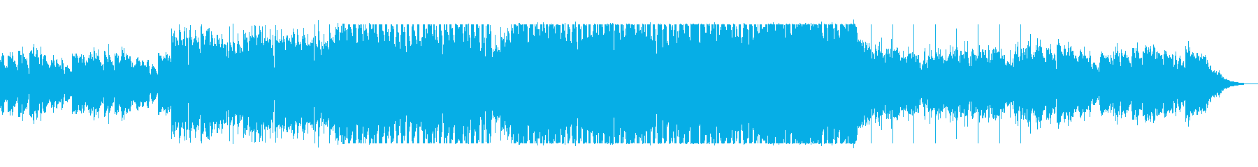 しっとりアップテンポのシンセサイザーの曲の再生済みの波形