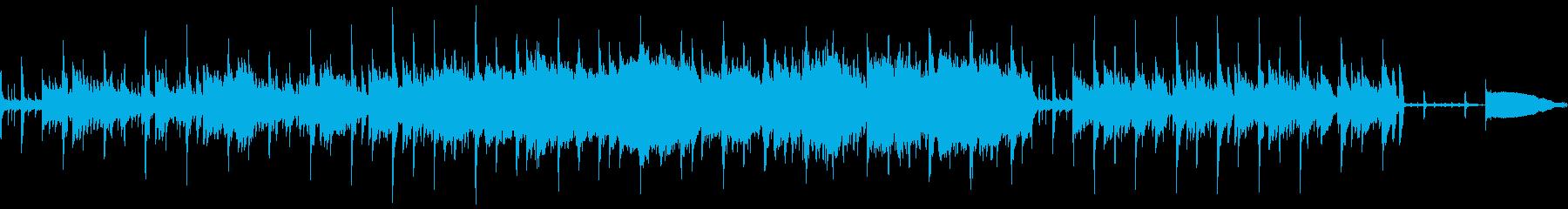 けだるいムードのジャズラウンジ風BGMの再生済みの波形