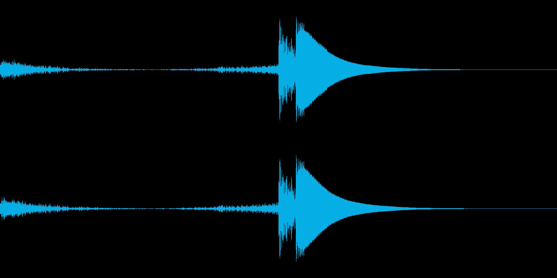 シューカキーン(凍りつく音)の再生済みの波形