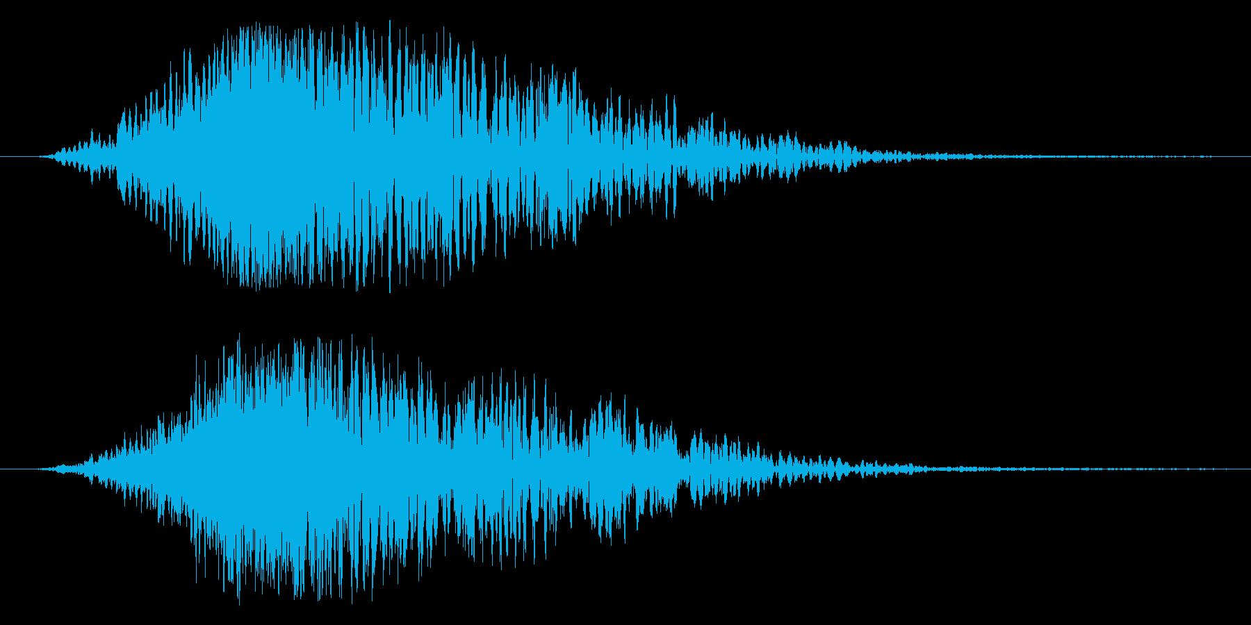 インパクト大のタイトルロゴに。の再生済みの波形