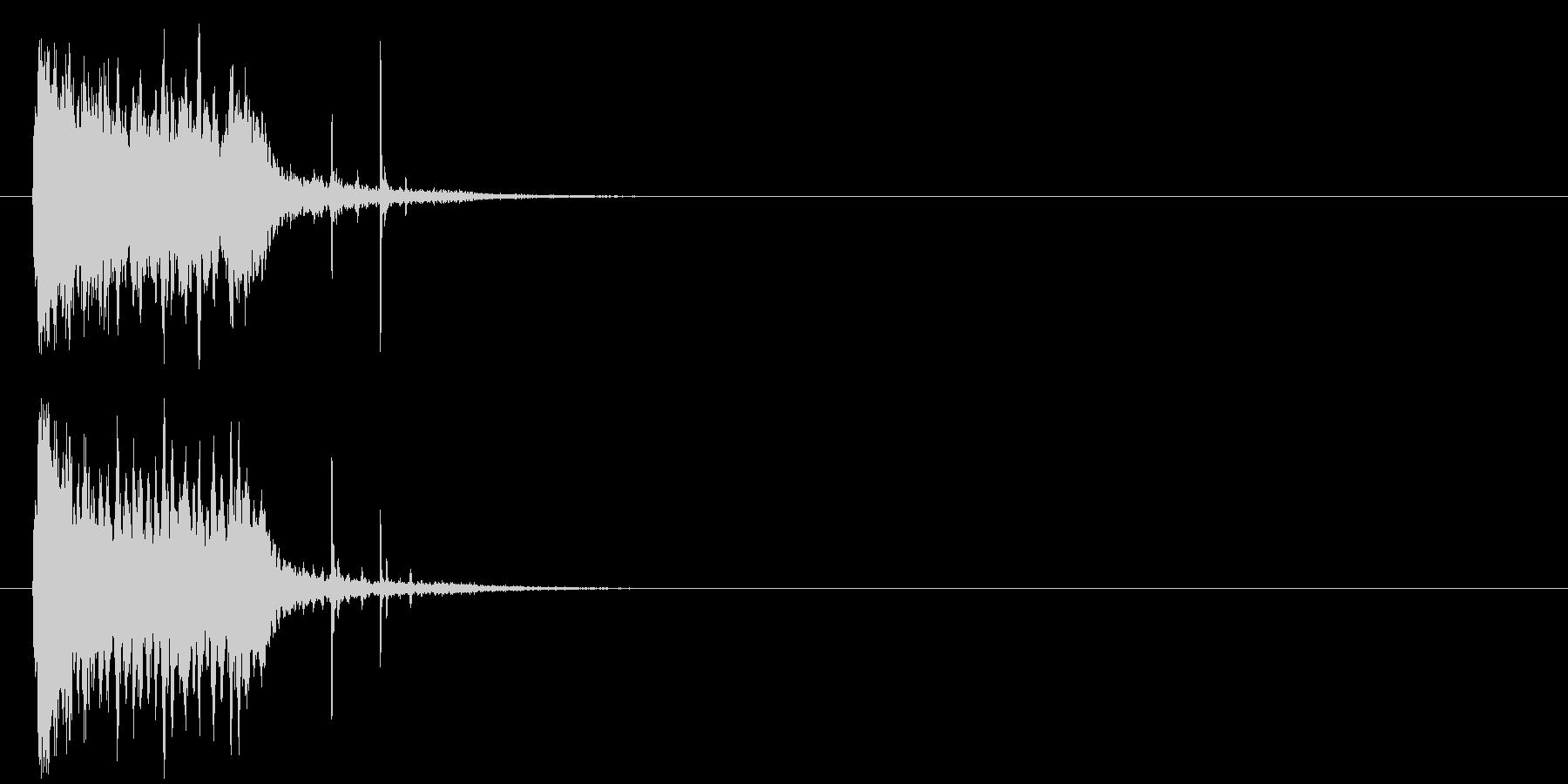 ズッコケ 場面転換 コミカル コントの未再生の波形