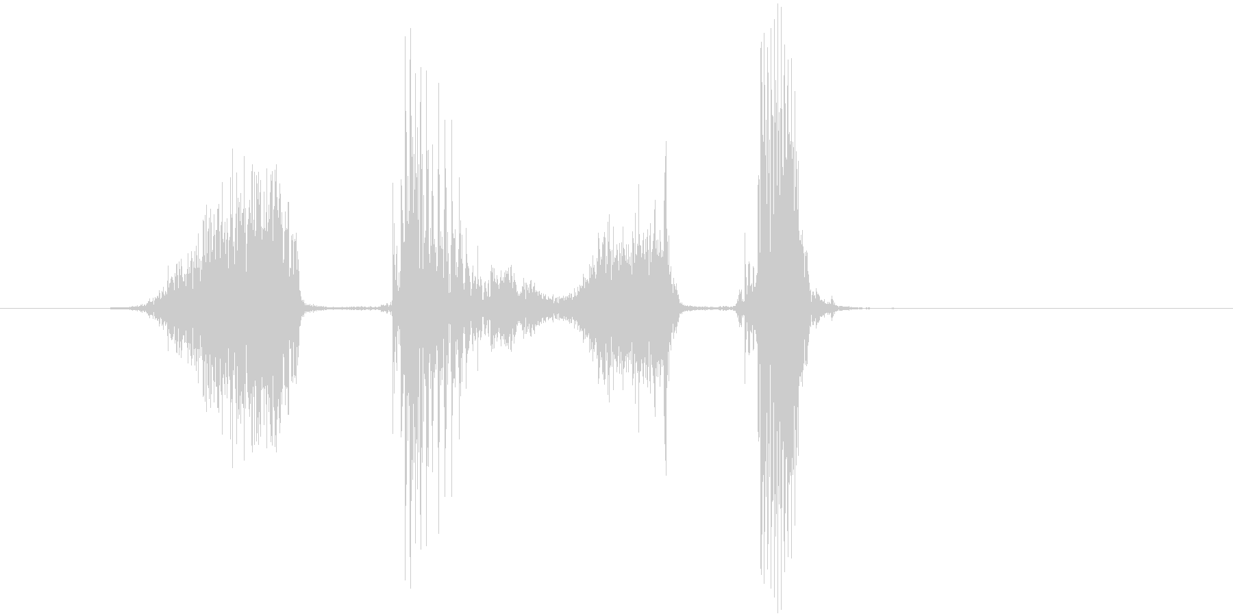 「スタスタ」の未再生の波形