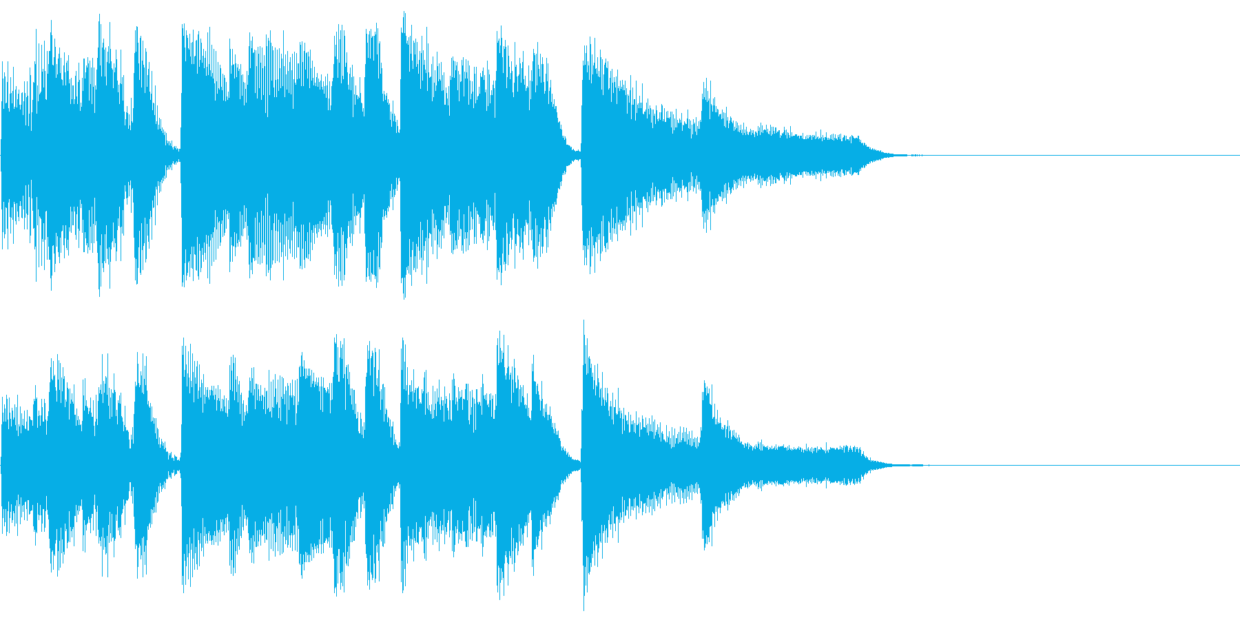 CM前などに ピアノジングル約8秒の再生済みの波形