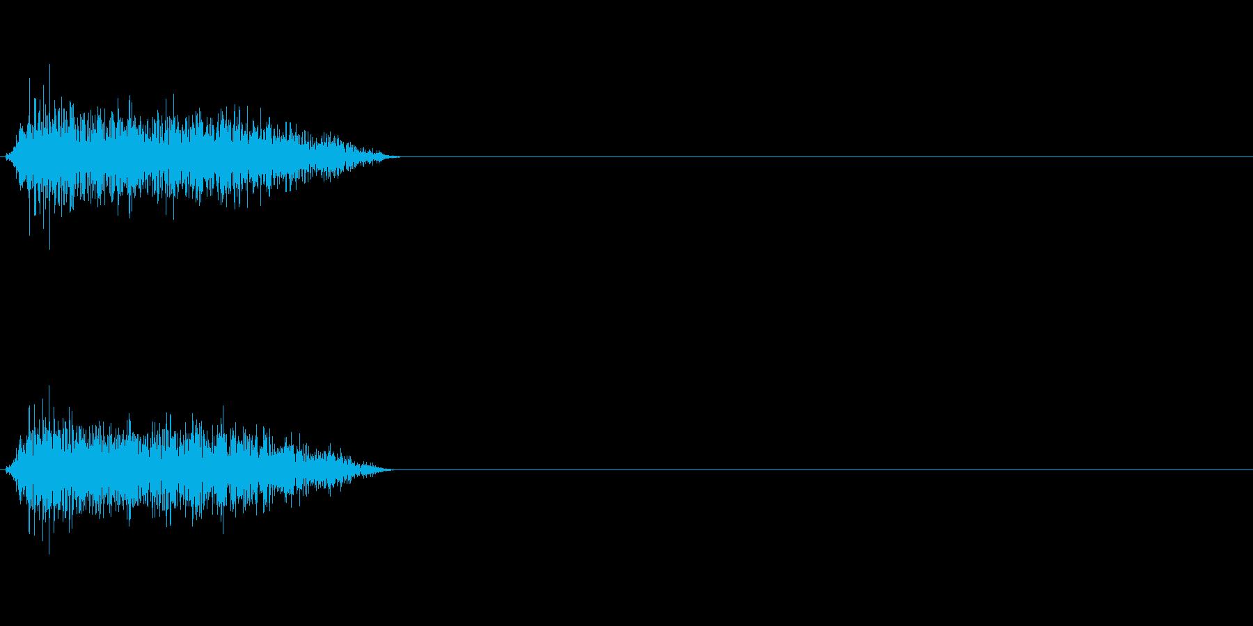 ジュワー 斬撃音の再生済みの波形