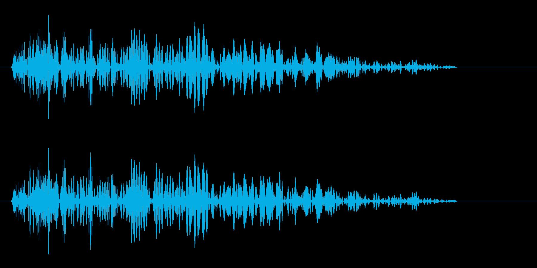 重みのある空気を切る様なエアー音の再生済みの波形