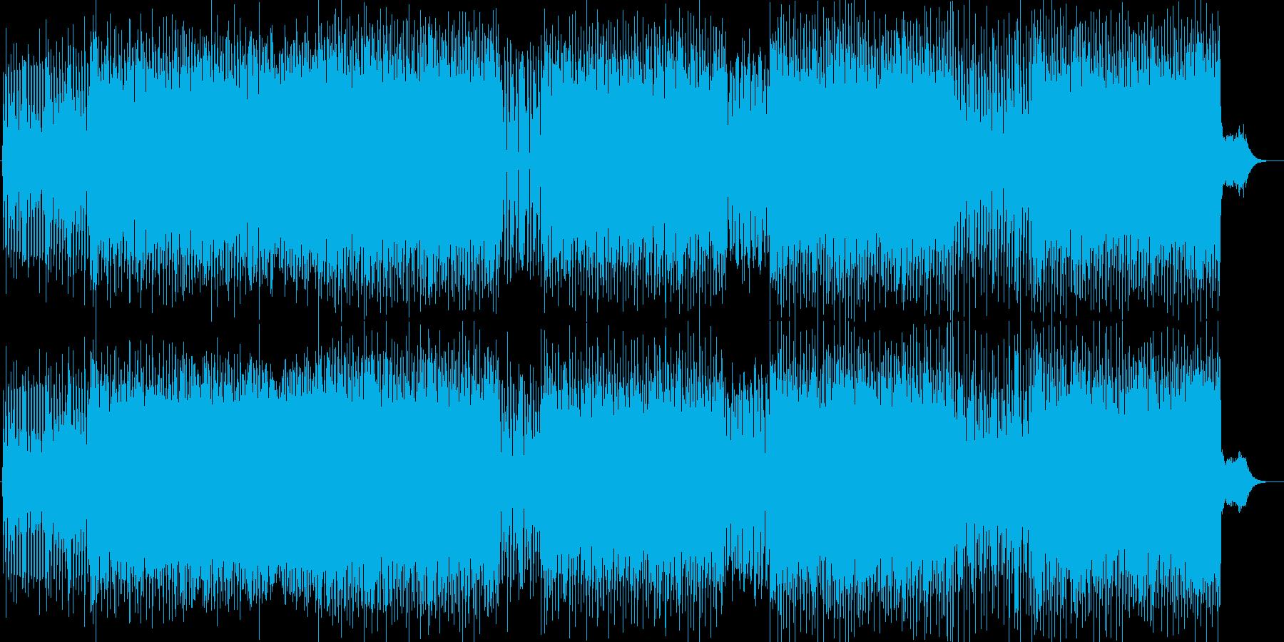 ゲームBGMテクノミックスポップの再生済みの波形