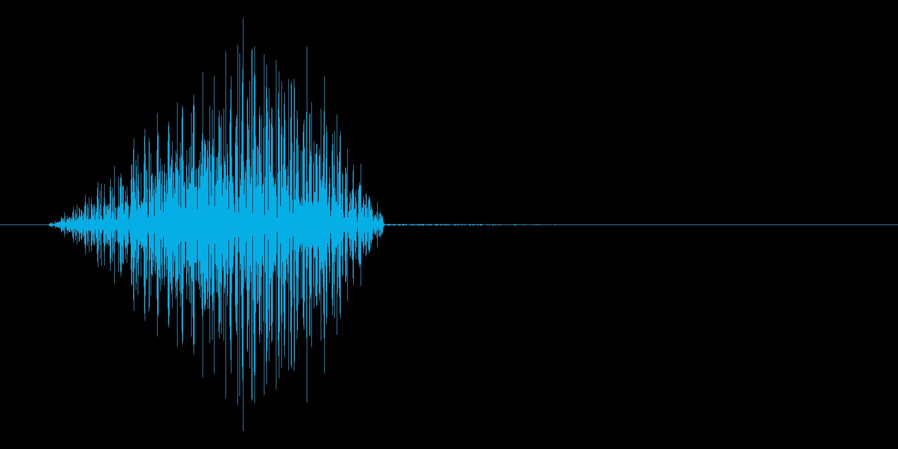 ゲーム、アプリに使えるキャンセル系SEの再生済みの波形