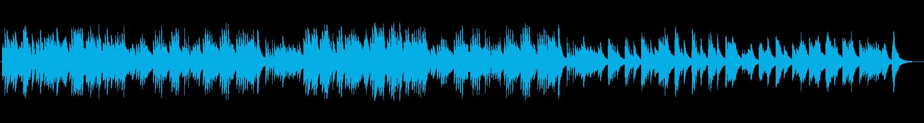 ピアノの調べが美しいイージーリスニングの再生済みの波形