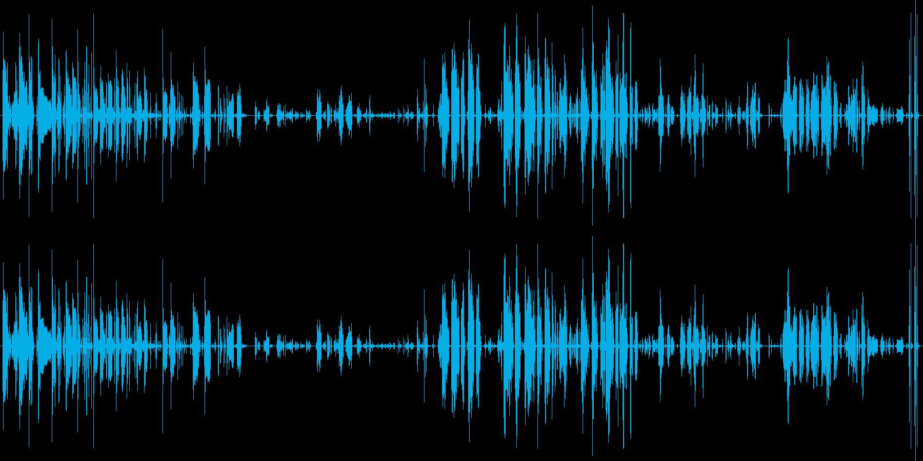 赤ちゃん泣き声・ぐずぐず・咳を大量収録!の再生済みの波形