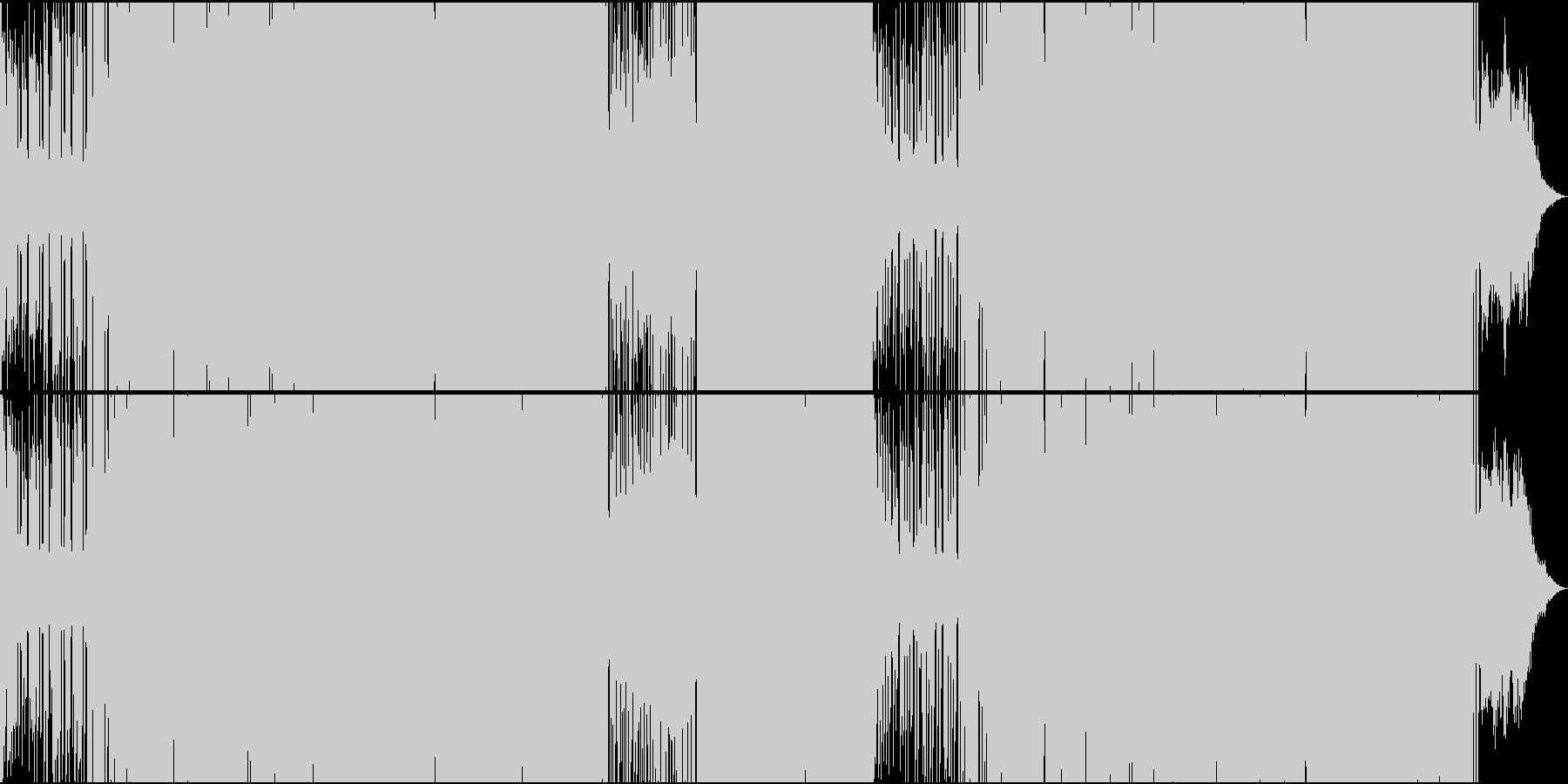 EDMシンセメロがファンキーな楽曲の未再生の波形