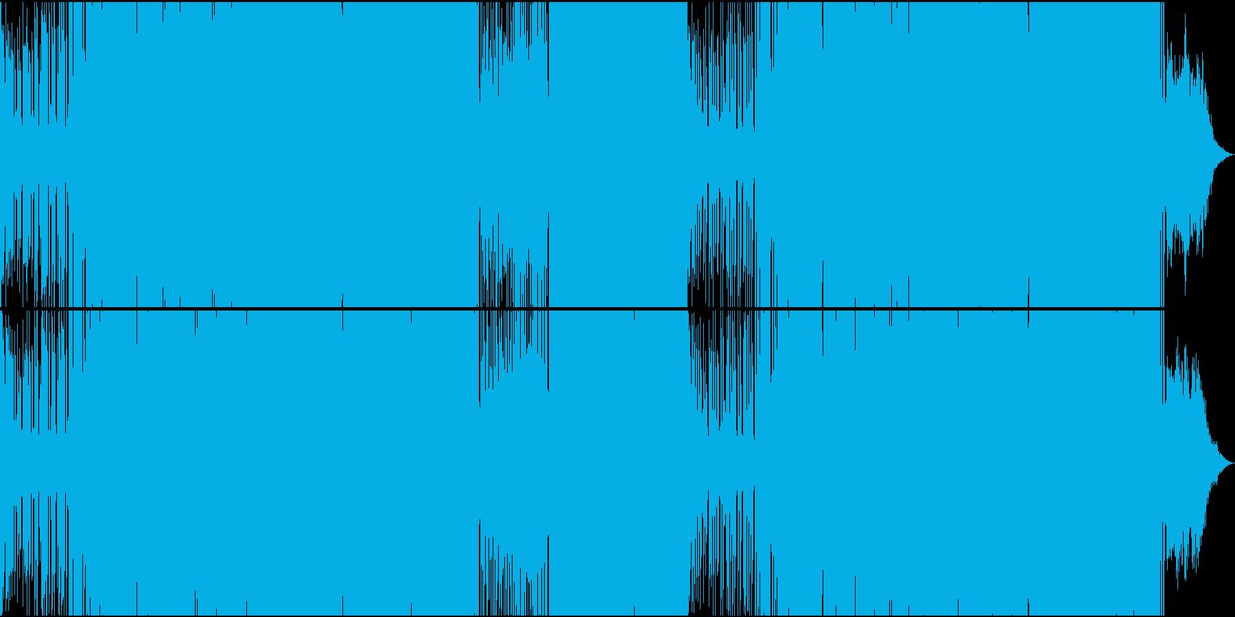 EDMシンセメロがファンキーな楽曲の再生済みの波形