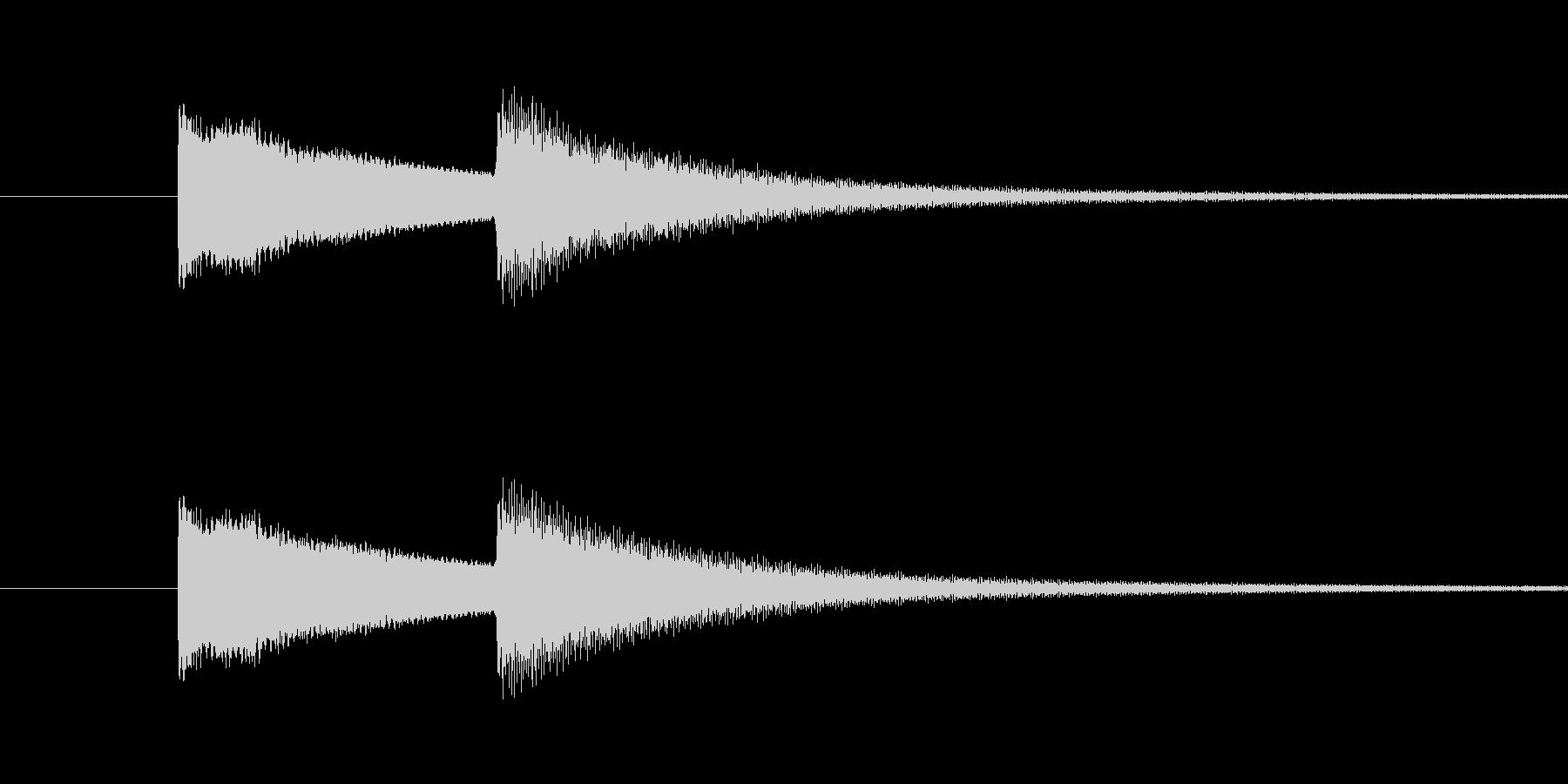 玄関ドアチャイム(キンコーン)の未再生の波形