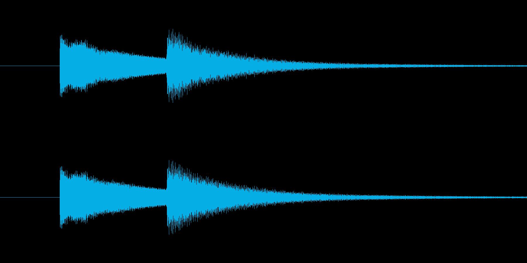 玄関ドアチャイム(キンコーン)の再生済みの波形