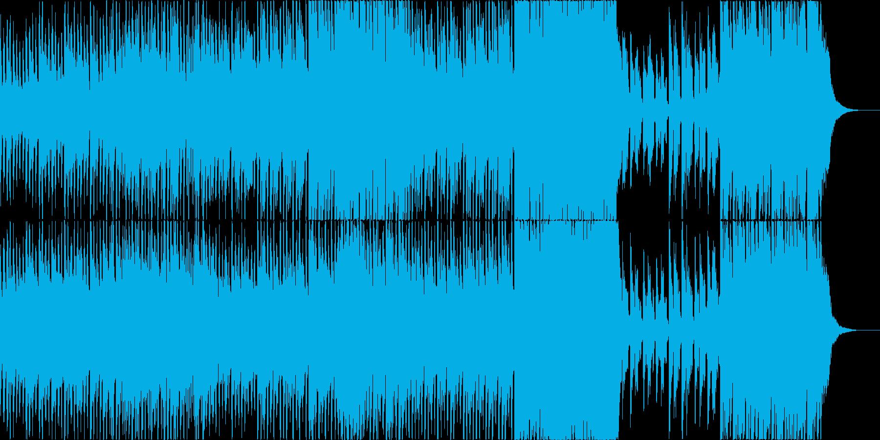 ゲームやアニメで駆け抜けるシーン!Cの再生済みの波形