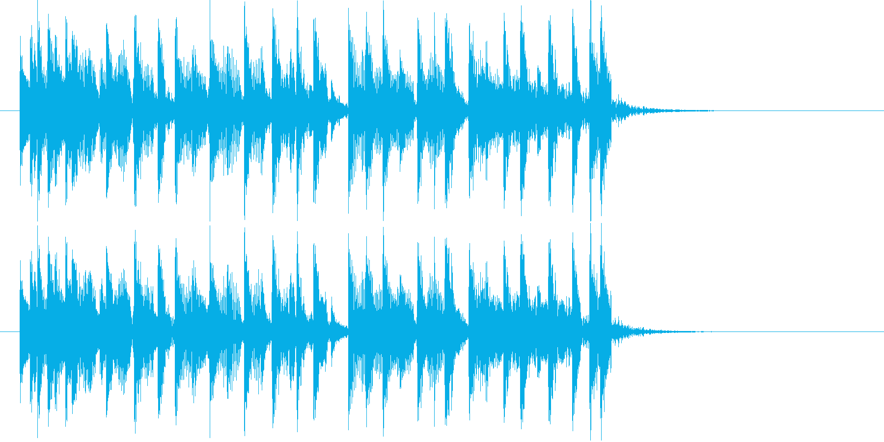 アコースティック調のさわやかポップスの再生済みの波形