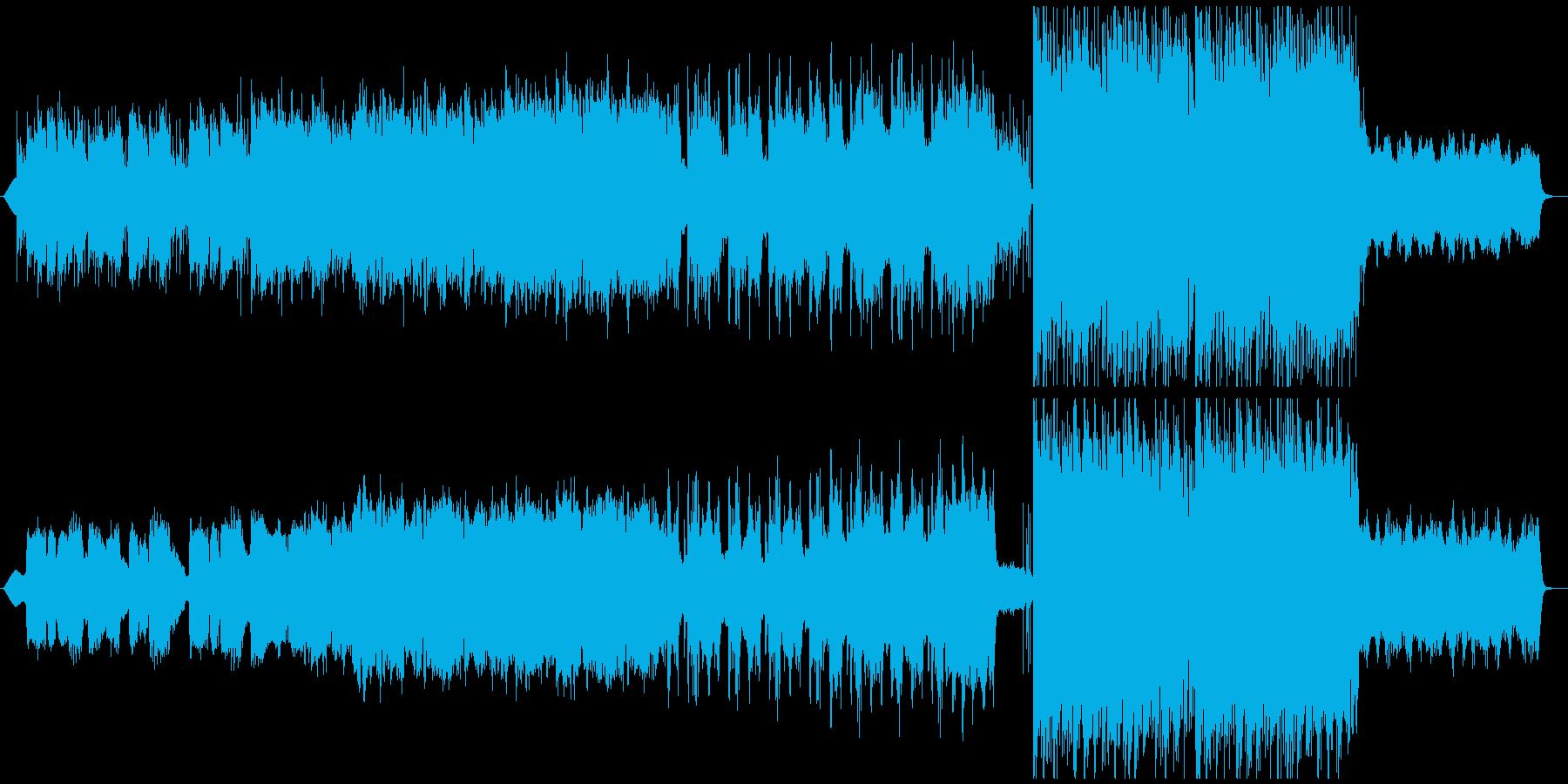 フルートの旋律が美しいケルト風な切ない曲の再生済みの波形