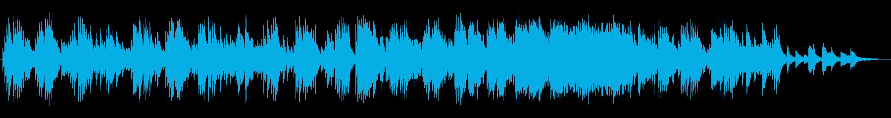 ゆっくりなピアノとシンセのバラードの再生済みの波形