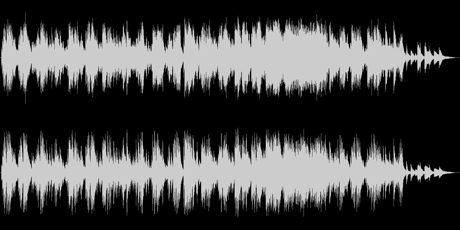 ゆっくりなピアノとシンセのバラードの未再生の波形