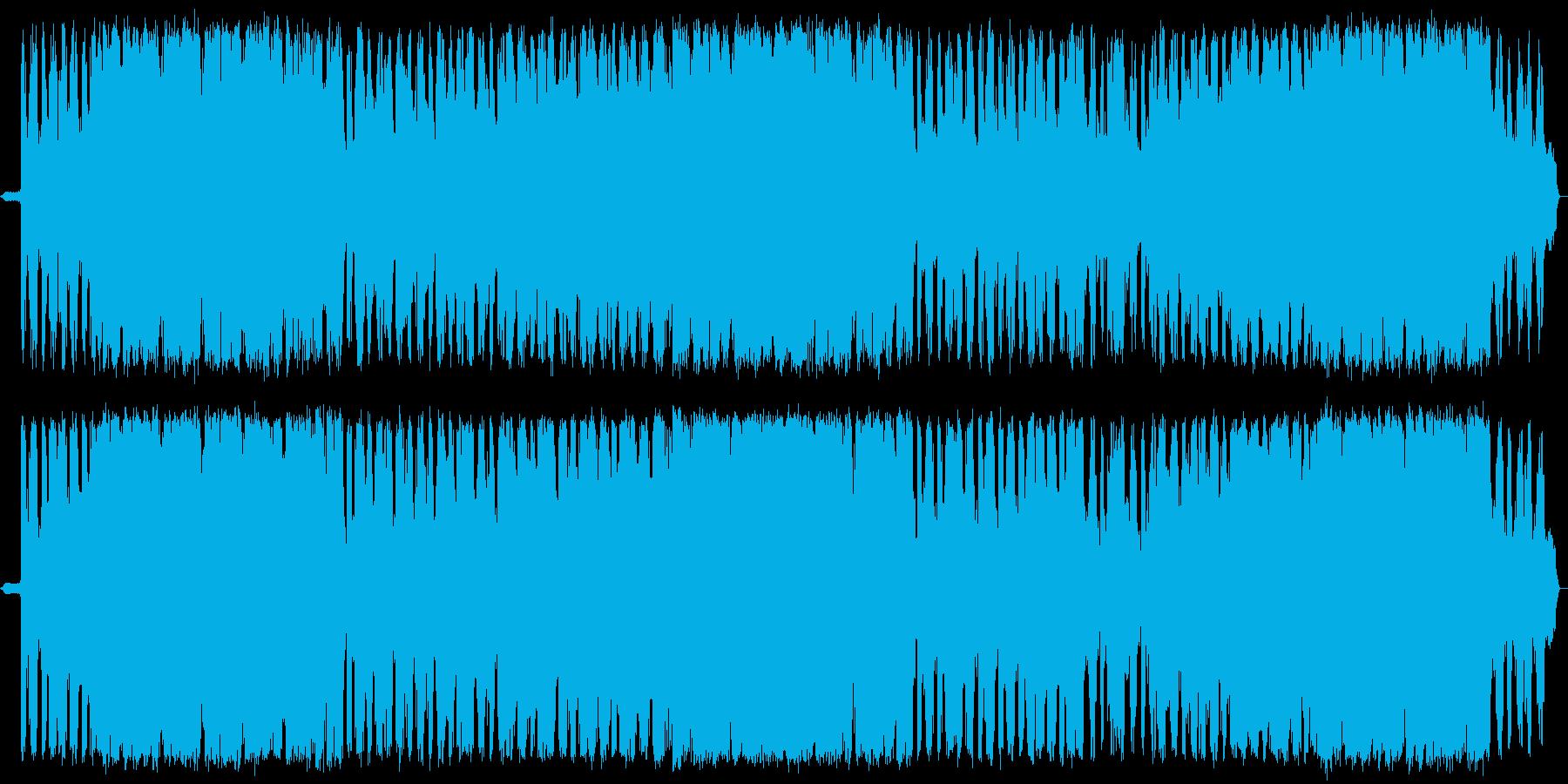 荒々しいドラムと物悲しいメロディの再生済みの波形
