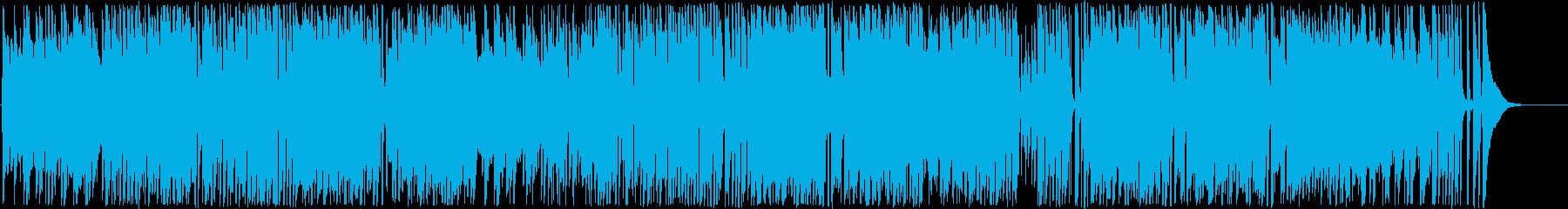 ほのぼのした曲の再生済みの波形