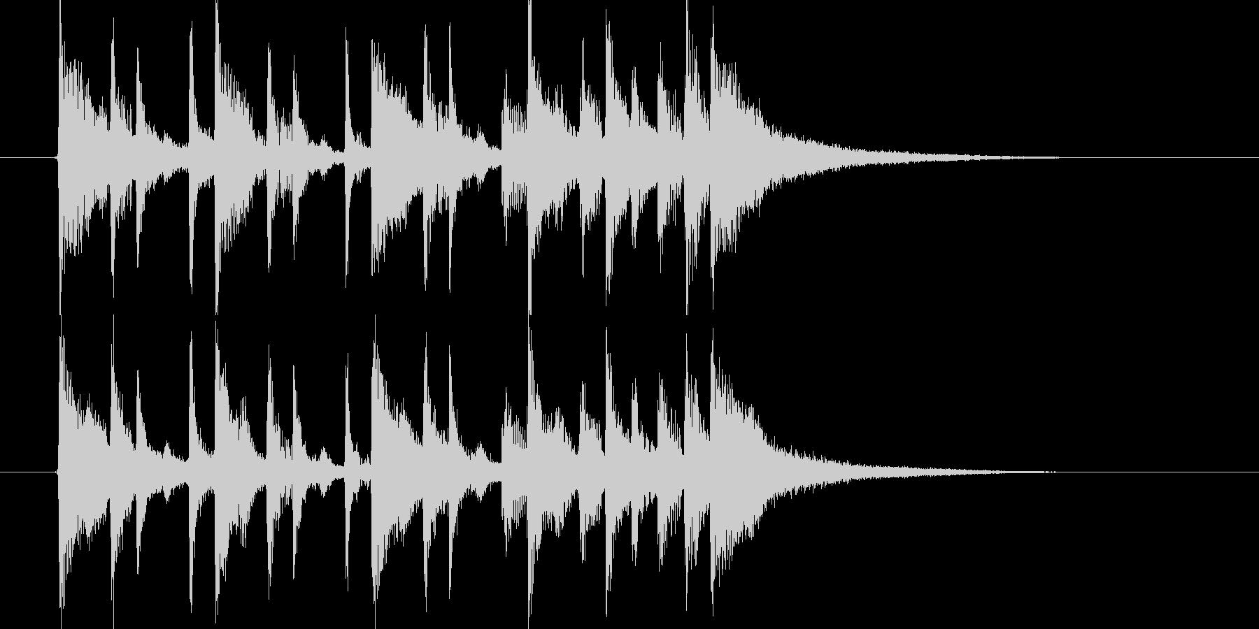 明るく楽しげなシンセサウンド短めジングルの未再生の波形