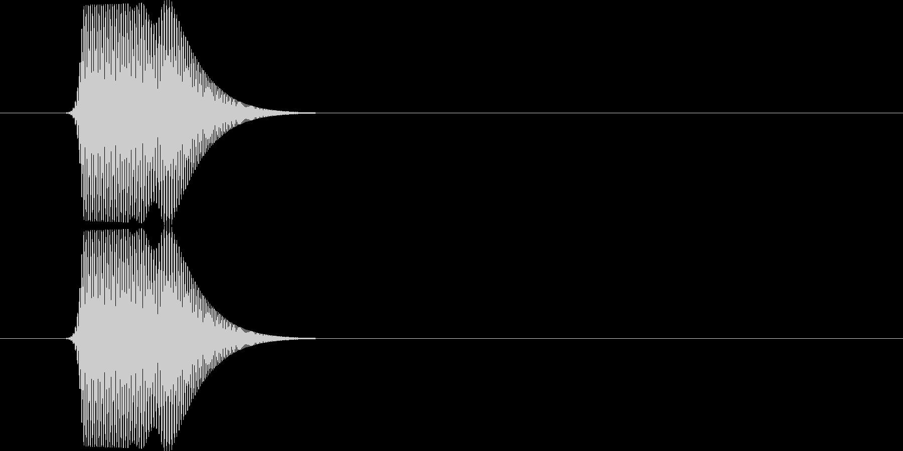 ポニュ(可愛いキャラクターの動作音)の未再生の波形