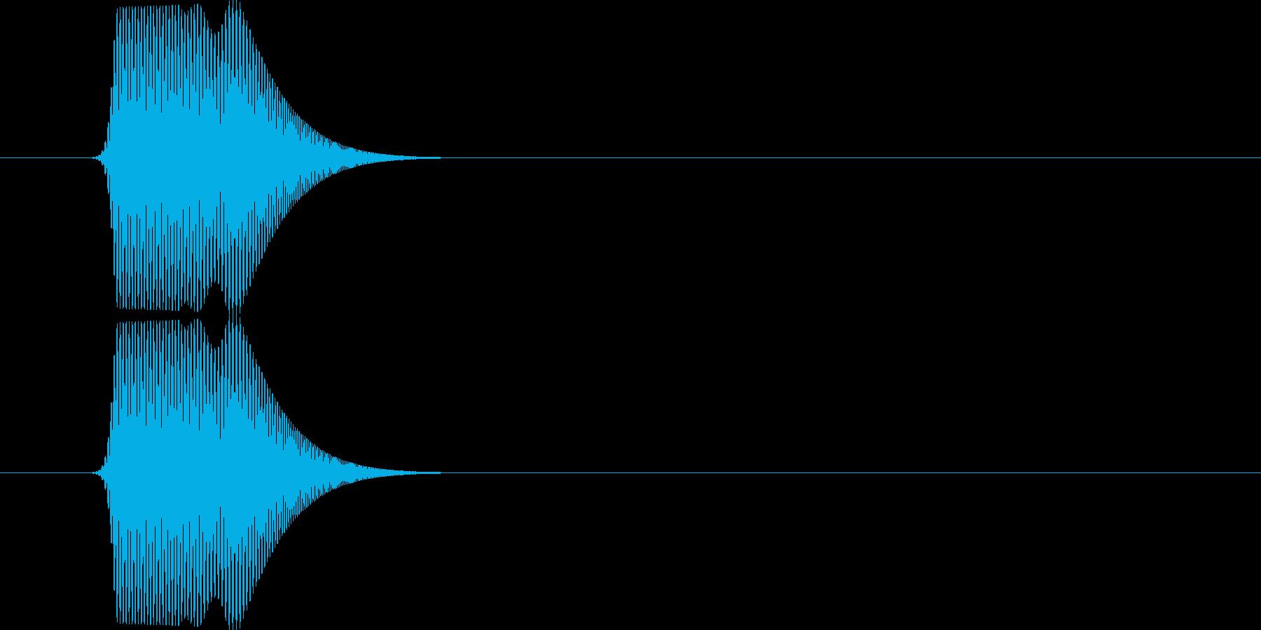 ポニュ(可愛いキャラクターの動作音)の再生済みの波形