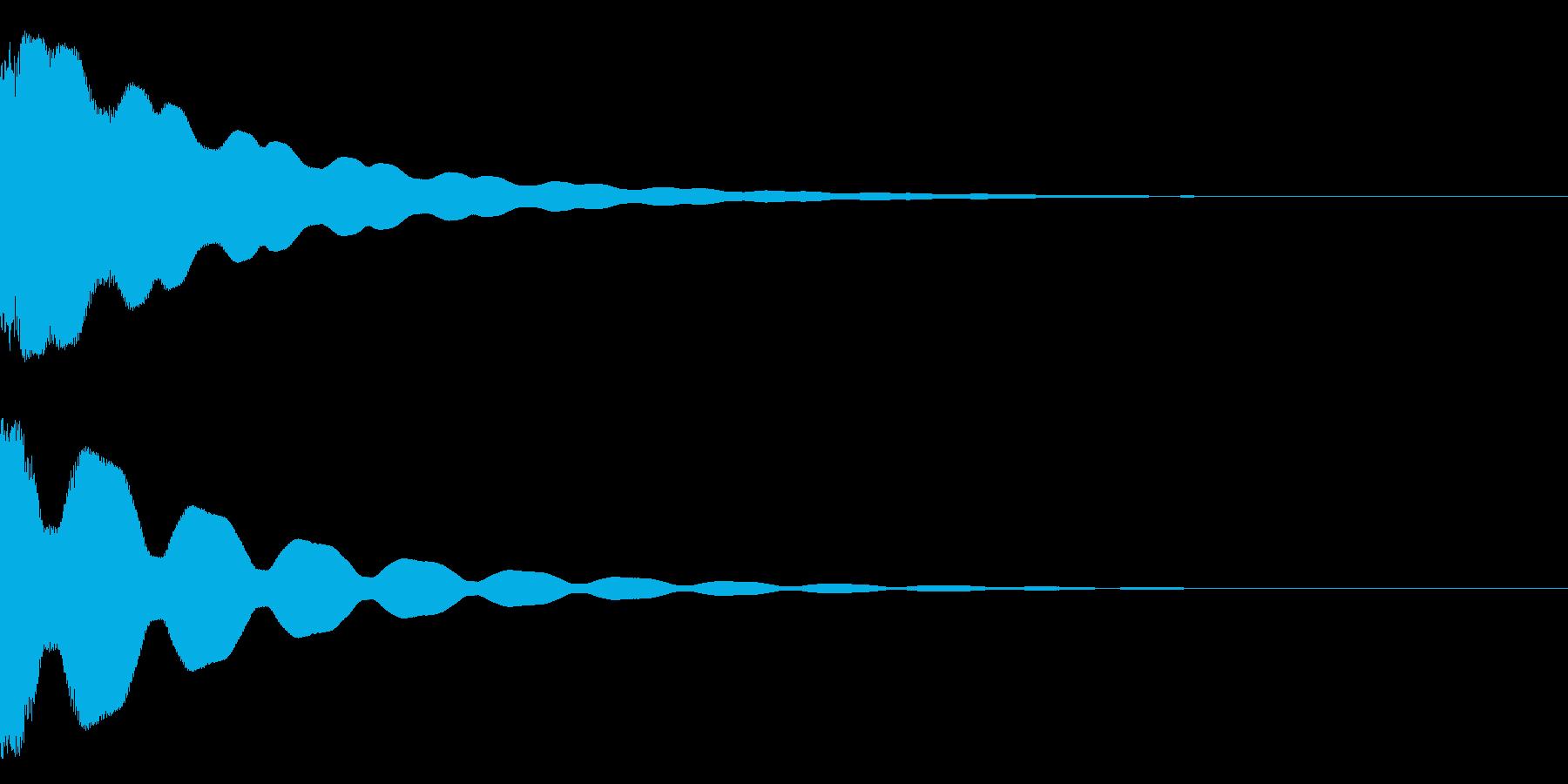 チィ~ン~の再生済みの波形