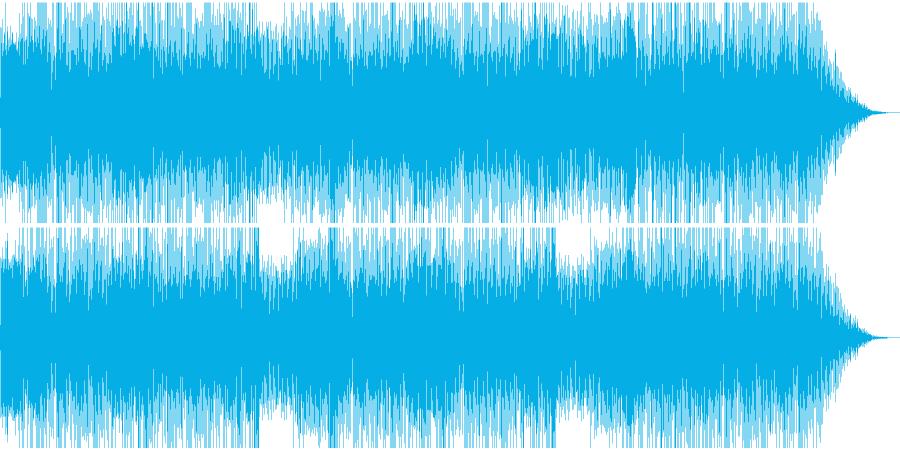 オープニング向き、軽快なBGMの再生済みの波形