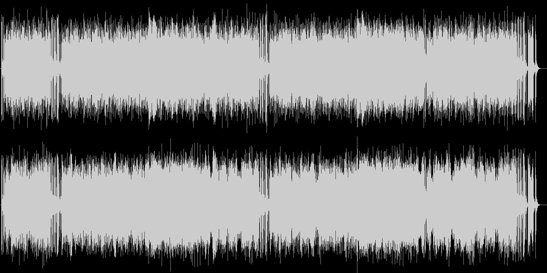明るく爽やかなシンセサイザーサウンドの未再生の波形
