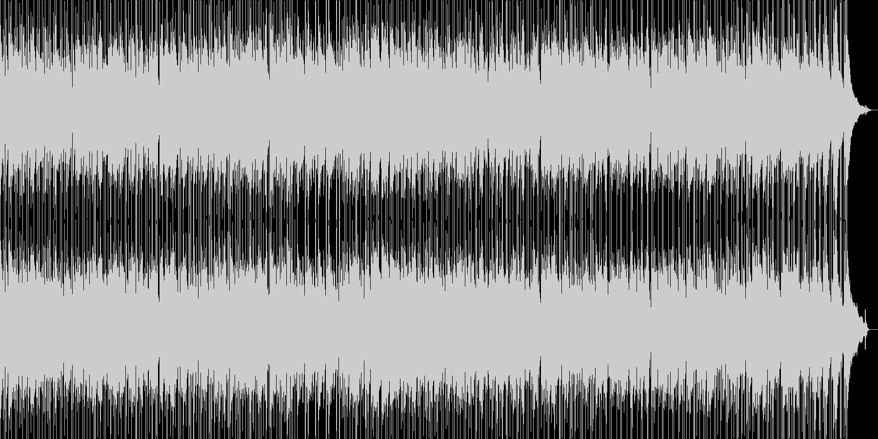 エレキギター アンサンブルの未再生の波形