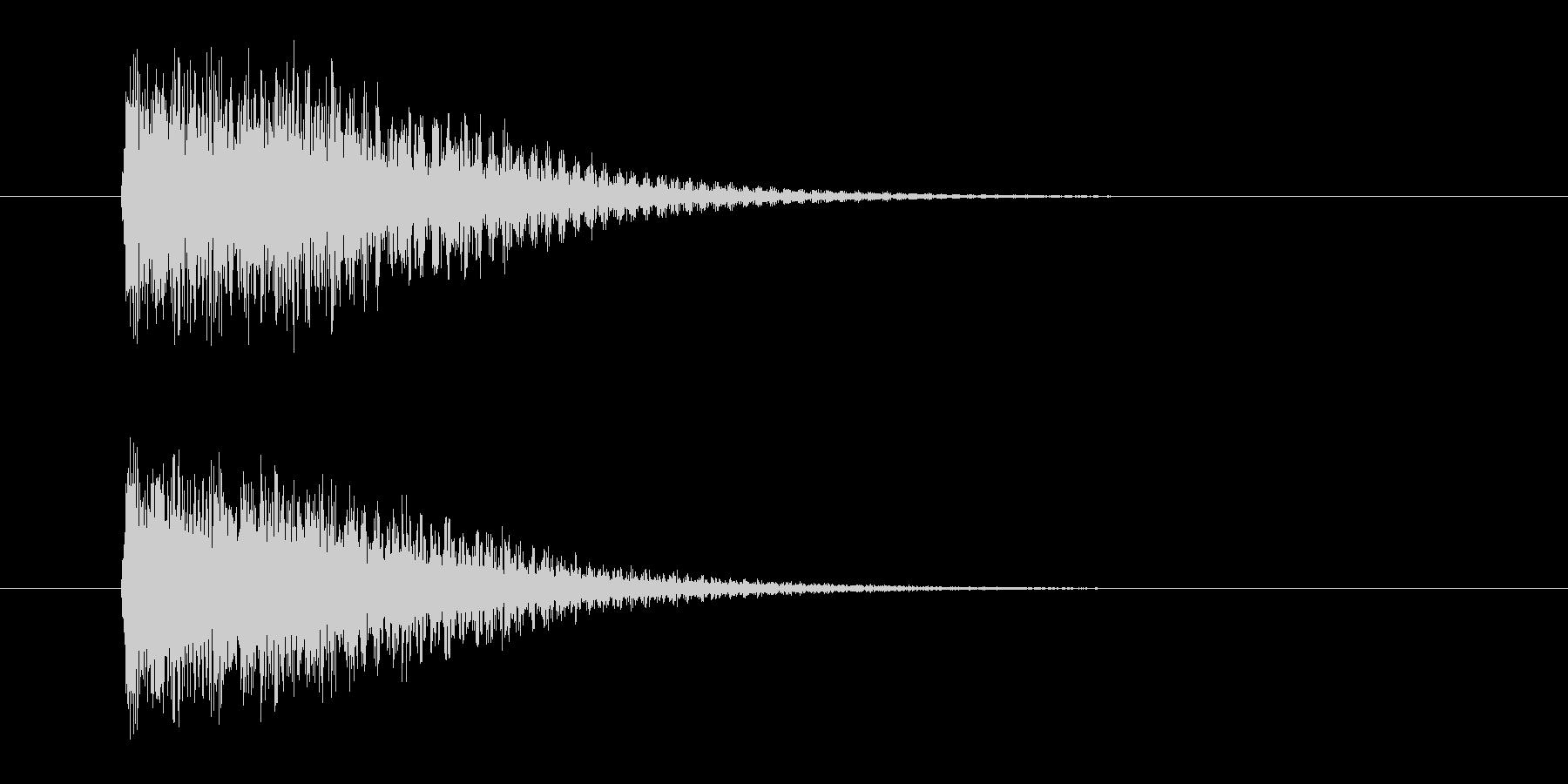 ジャンジャン(発表、登場)の未再生の波形