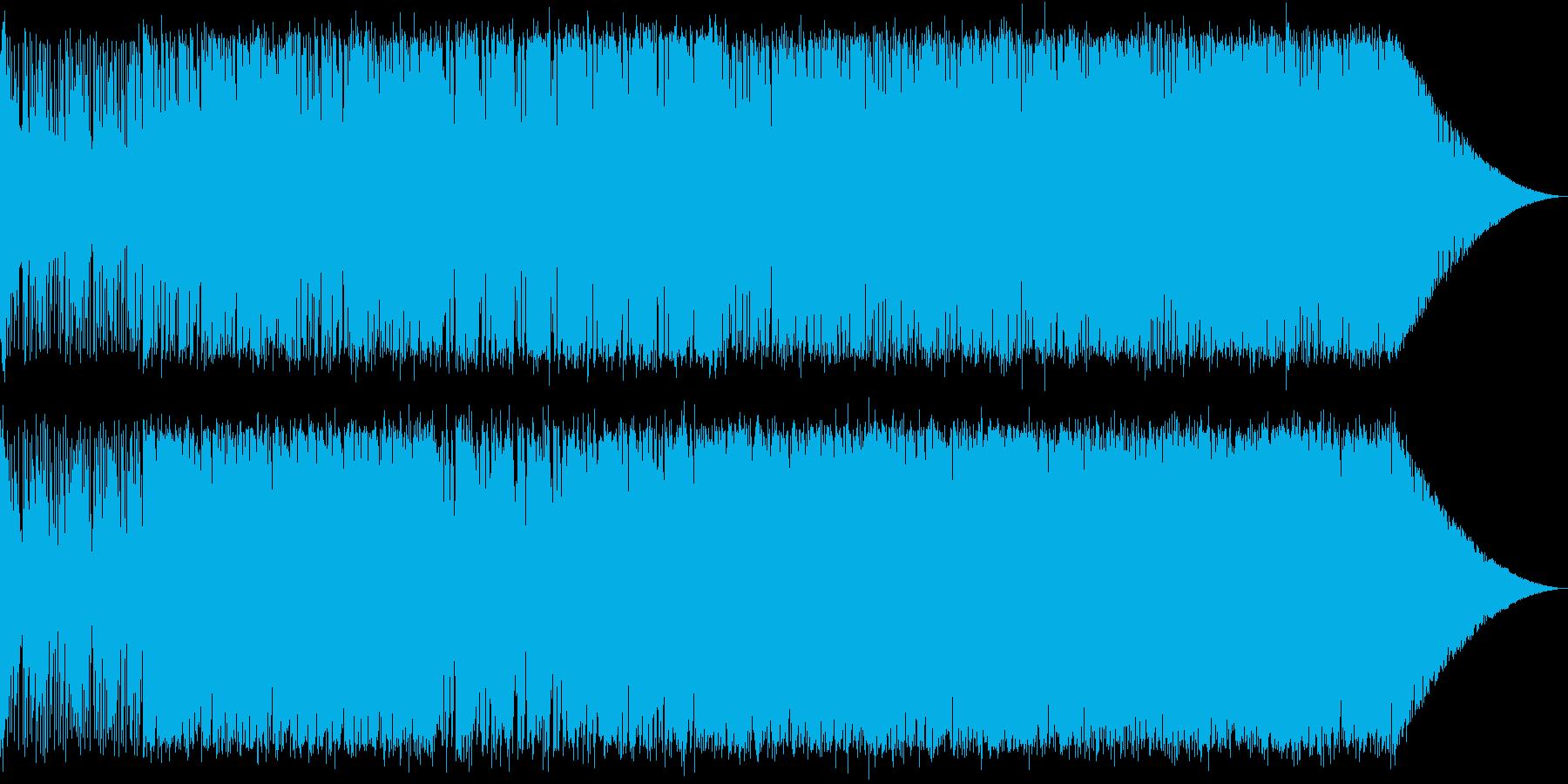 シンセとディストーションギターの戦闘曲の再生済みの波形