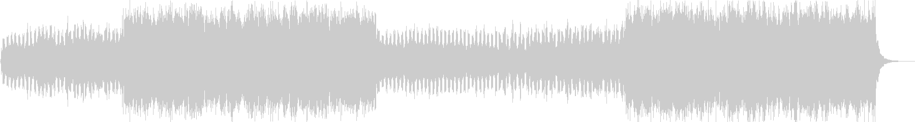 シンセとボイスチョップのCM向けハウスの未再生の波形