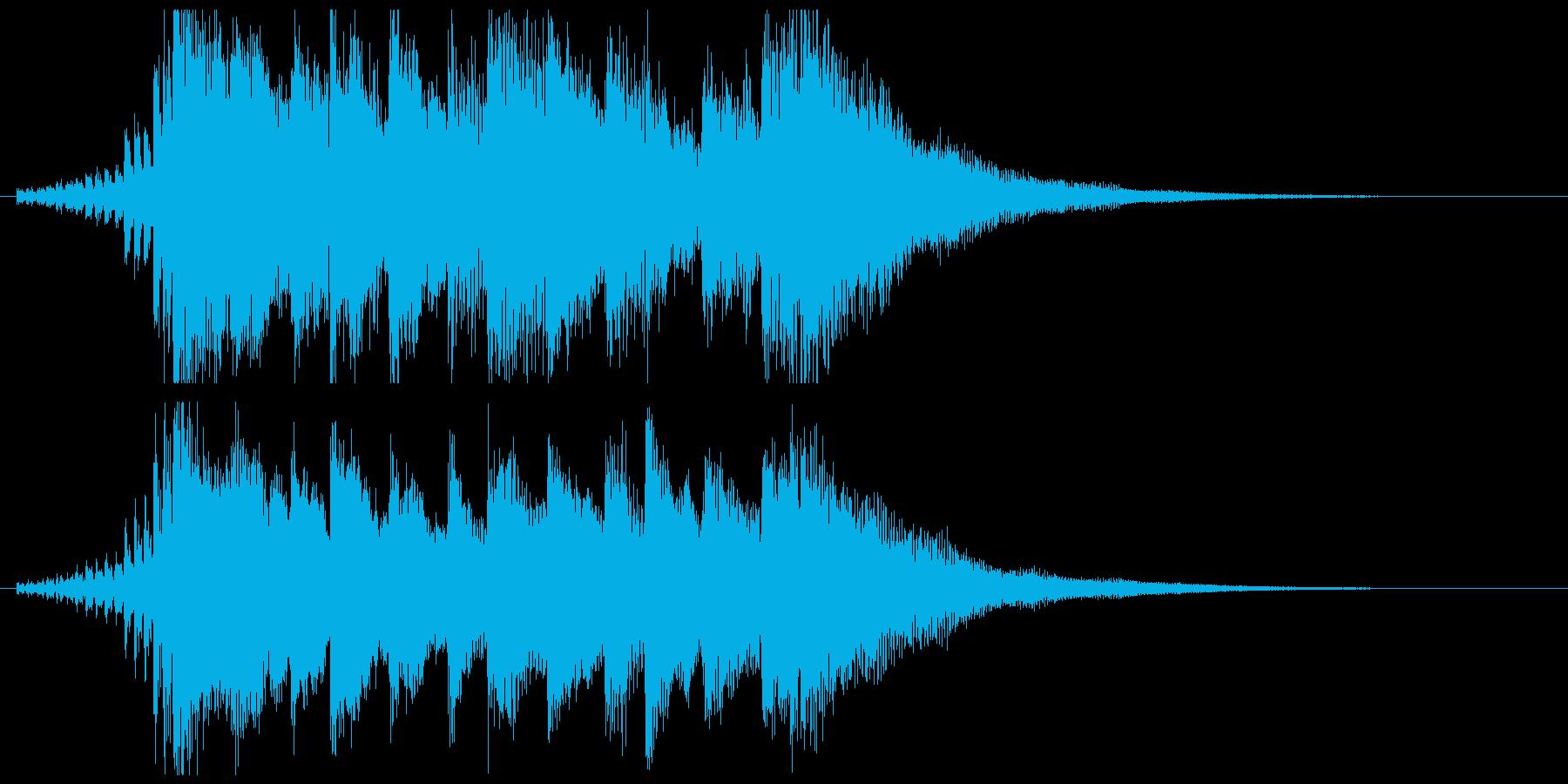 ニュース番組オープニング風BGM(10秒の再生済みの波形