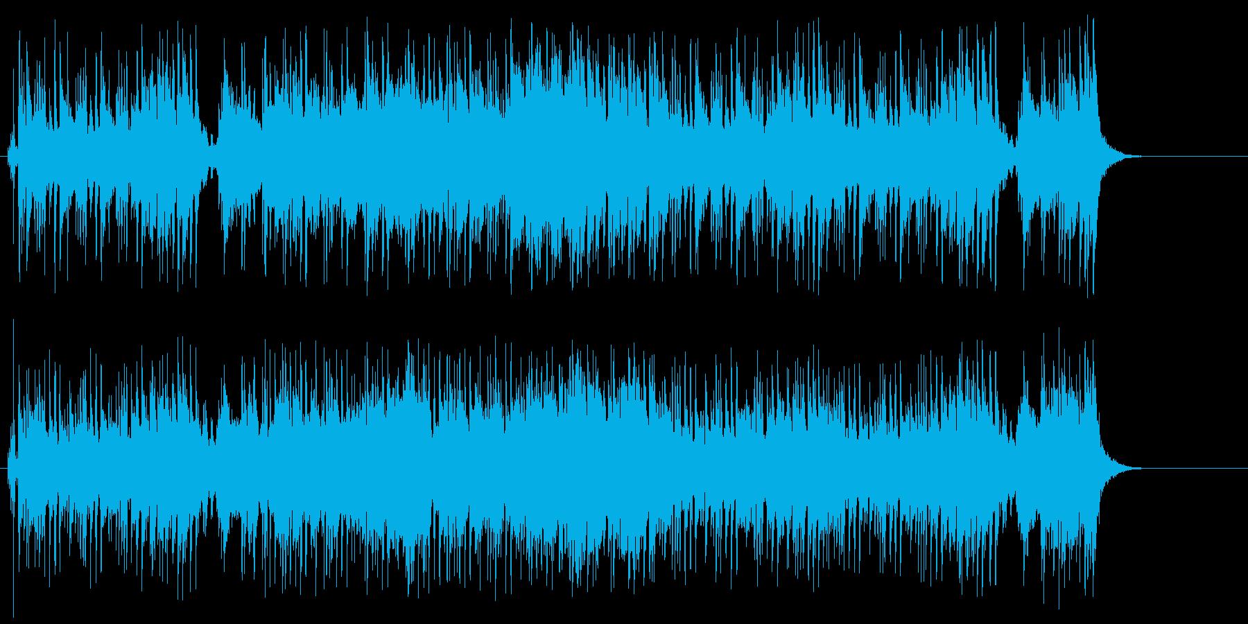 タイトル向けの広がりのあるポップスの再生済みの波形