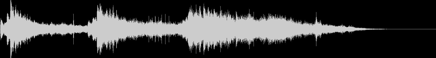 クリスタルピアノのアテンション用ジングルの未再生の波形