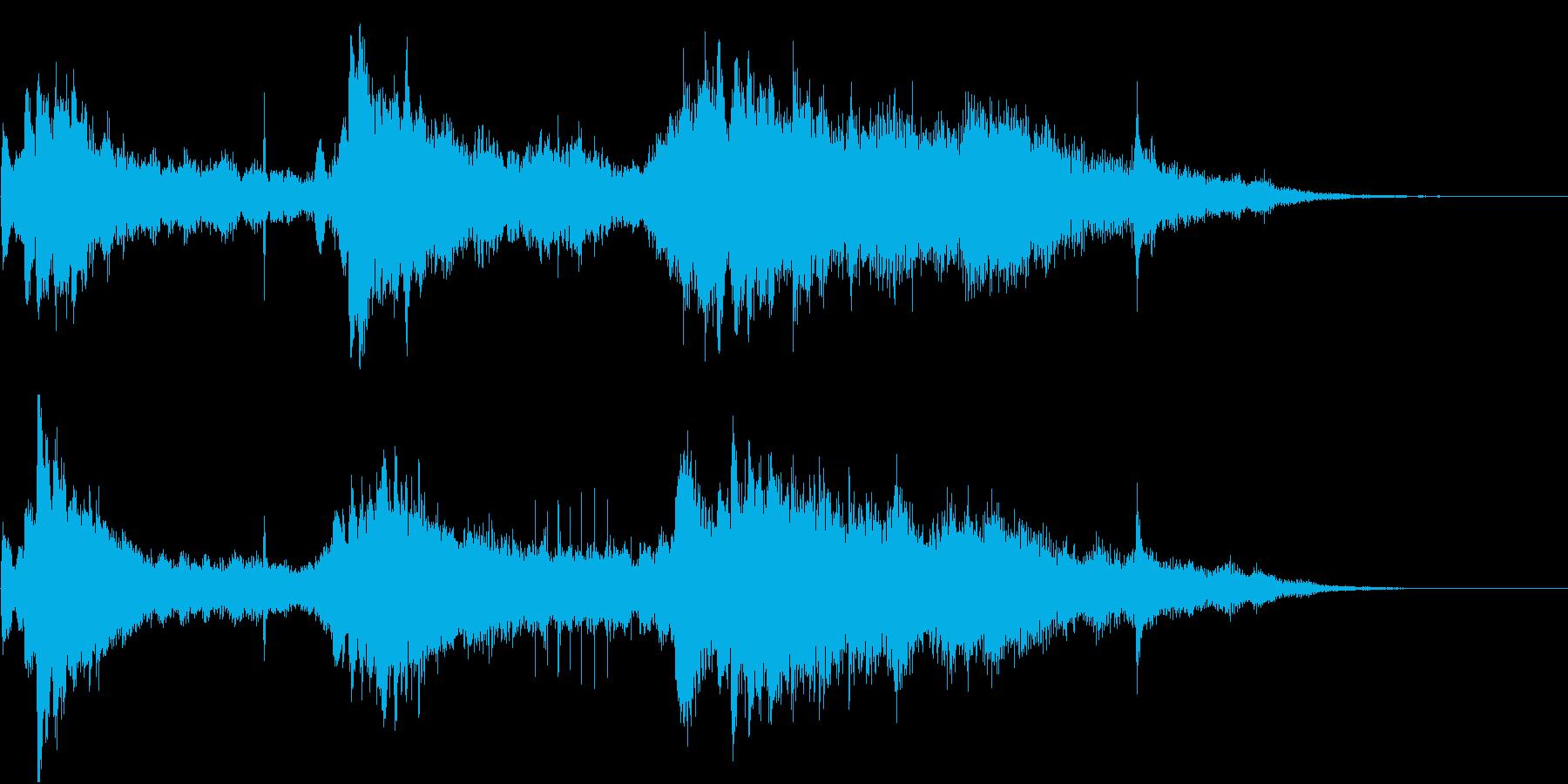 クリスタルピアノのアテンション用ジングルの再生済みの波形