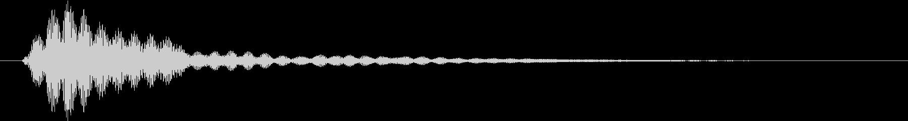 ピ(短いボタン音)の未再生の波形